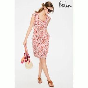 NEW! Boden Margot Dress Red Pop Folk Floral A3